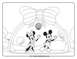 Mickey Mouse Clubhouse Coloring Page Pages Free Christmas Pictures Online