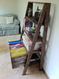 diy shelf leaning ladder wall bookshelf made from 1x boards desk