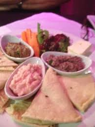 dips cuisine trio of delicious dips with warm bread picture of mez