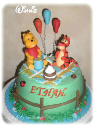 gâteau winnie l ourson pour l anniversaire de mon filleul la