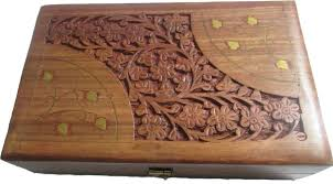 Evergreen Wooden Handicraft Jewellery Box Hand Made Designer 8 X 5 Inch Makeup And Vanity