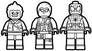 Lego Spiderman And Ghost Rider Hawkeye Coloring Book Pages Kids Fun Art