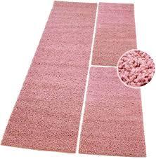 2x 70x140 cm carpet city bettumrandung shaggy hochflor