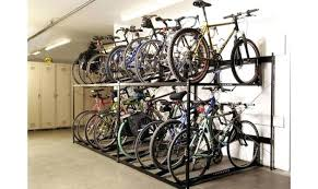 Bike Storage Nyc Double Stack Racks Rack Winter Motorcycle