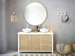 runder spiegel mit goldfarbenem metallrahmen d101 maisons du monde