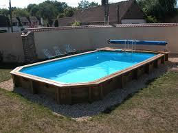 photo piscine piscine bois semi enterrã e