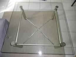 design couchtisch glasplatte glas edelstahl tisch rolf