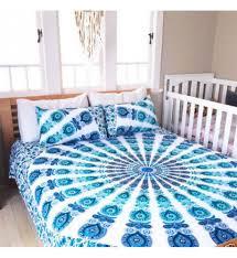 bedroom trippy bed sets mandala sheets hippie duvet covers