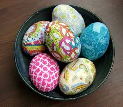 Budget Friendly And Easy Easter Crafts Paper Or Fabric Wrapped Eggs