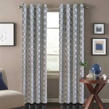 Bed Bath And Beyond Grommet Blackout Curtains by Tile Scroll Window Curtain Panel In Blue Window Curtains Window