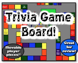 Trivia Game Board 9 Movable Pieces Great For Class Review