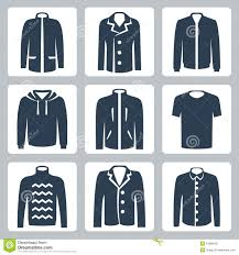 vector men u0027s clothes icons set stock photography image 34988182
