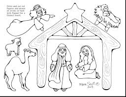Good Black White Nativity Scene Coloring Page Pages Printable Free For Preschool Sheets Preschoolers Lds