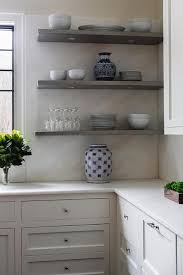 gray kitchen shelves with led lighting transitional kitchen