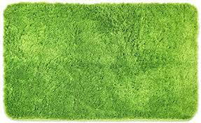 wohndirect badematten zum set kombinierbar badvorleger 50 x 80 cm badteppich rutschfest waschbar grün