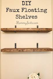 diy faux floating shelves shelves house and room