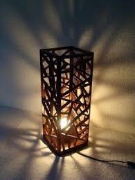 Lampa Drewniana Popsicle Stick