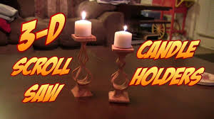 make these cool 3 d scroll saw candle holders free pattern link