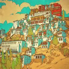 Coloring Book Adults Fantastic Cities Steve Mcdonald 17