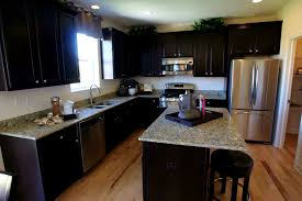 Kitchens With Dark Cabinets And Light Countertops by Bathroom Engaging Kitchen Dark Cabinets Light Granite House