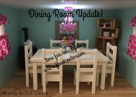 American Girl Dollhouse Dining Room Update