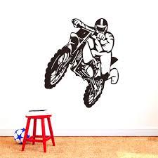 ides de dcoration pour sticker mural moto cross décoration