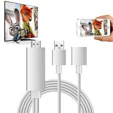 Phone HDMI cable adapter Plug Play lightning to HD TV Apple iPhone