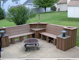 Bench Outdoor Wooden Patio Ideas Best Homemade Furniture Storage Cooler Full Size Backyard Wood Designs