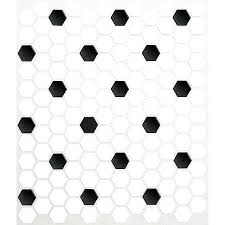 American Olean Mosaic Tile by Classic Black Mixed White Hexagon Ceramic Mosaic Tiles For