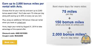 Earn Up To 2,000 United Miles With Avis - Use Coupon Code MUAA009 ... Car Rental Secrets How To Book The Cheapest Deal Money Wise Driver Up To 25 And Membership Discounts For Veteran Military Families Amex Platinum Card Maximize Insurance Benefits 2019 Ultimate Guide Avis Pferred Program Get A Cheap Rental Car Clark Howard Style Save Money On Rentals Around The World With Autoslash After An Accident Enterprise Rentacar Dollar Military Verification Veterans Advantage Applying Discounts Promotions Ecommerce Websites Budget Truck Discount Earn 7500 Aadvantage Bonus Miles Use Coupon 200 Off Coupons Promo Codes August