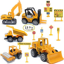 Amazon.com: Construction Toys Sets, 5 Pieces Mini Vehicles ...