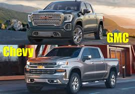 2019 GMC Sierra Or 2019 Chevy Silverado? Which One Do You Like ... Gmc Comparison 2018 Sierra Vs Silverado Medlin Buick 2017 Hd First Drive Its Got A Ton Of Torque But Thats Chevrolet 1500 Double Cab Ltz 2015 Chevy Vs Gmc Trucks Carviewsandreleasedatecom New If You Have Your Own Good Photos 4wd Regular Long Box Sle At Banks Compare Ram Ford F150 Near Lift Or Level Trucksuv The Right Way Readylift 2014 Pickups Recalled For Cylinderdeacvation Issue 19992006 Silveradogmc Bedsides 55 Bed 6 Bulge And Slap Hood Scoops On Heavy Duty Trucks