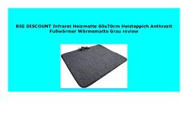 infrarot heizmatte 60x70cm heizteppich anthrazit fußwärmer