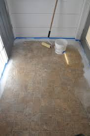 Tiling A Bathroom Floor Over Linoleum by When It U0027s Time To Paint Your Ugly Floor