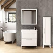 lomadox badmöbel set tarifa 110 spar set 3 tlg landhaus badezimmermöbel mit hochschrank spiegel blue b h t ca 175 200 45cm