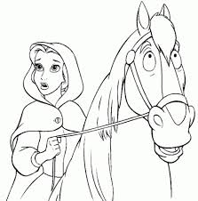 Belle Coloring Pages Disney Princess For Girls 74521