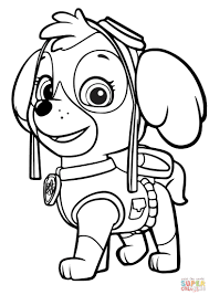 Magnificent Skye Paw Patrol Coloring Pages Sky