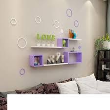 juli wandregale wand lila gitter racks schlafzimmer weiße
