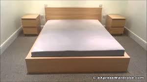 Queen Bed Stand by Bed Frame Queen Best Images About With Ikea Platform Wood Low Size