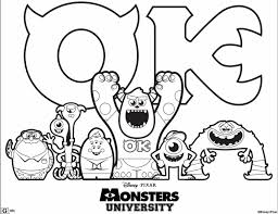 FREE Disney Pixar Monsters University Printable Coloring And Activity Sheets