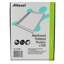 siege rexel rexel copyking pocket ckp a4 polypropylene pack 100 12265 rx12265