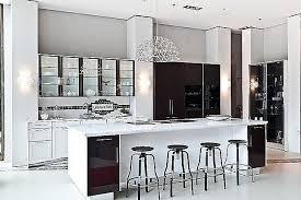 se 2002 bal luxuriöse inselküche in lack glänzend und furnier mit gaggenau kühl gefrier kombination und bora professional 2 0