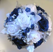 Dark Blue Silver White
