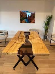 epoxy holz tisch exotische holz epoxy esstisch wohnzimmer küche tisch
