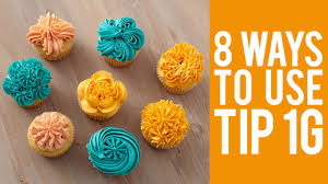 Decorate Cupcakes With Tip 1G 8 Ways