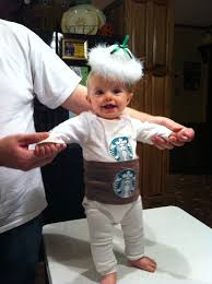 Coffee Cup Hand Made Starbucks Onesie Costume By Tricia Raney