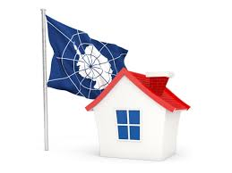 104 Antarctica House With Flag Illustration Of Flag Of