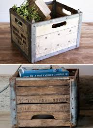 AFH Found Vintage Wood Milk Crate