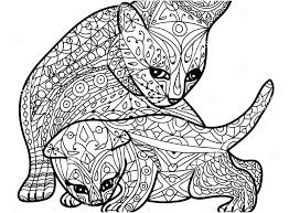 Coloring Pages Of Kittens To Print Cat Adult Book Pic Amazing Kitten Difficult Cute