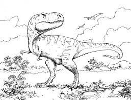 Dinasour Coloring Pages Free Printable Dinosaur For Kids Line Drawings